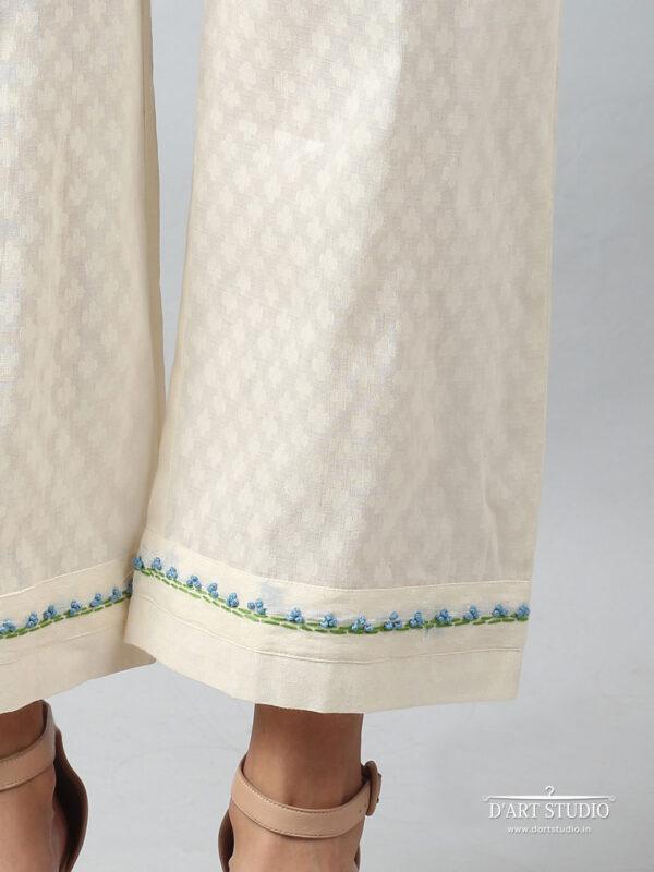 Hand Embroidered Cotton Plazzo DARTSTUDIO4068