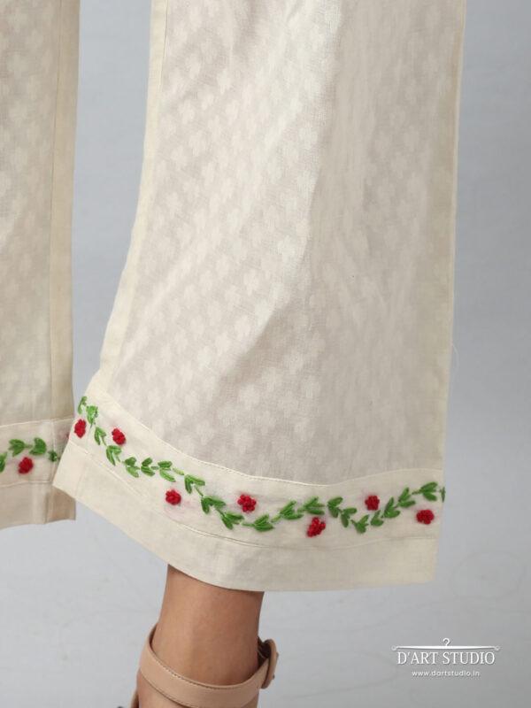 Hand Embroidered Cotton Plazzo DARTSTUDIO4069