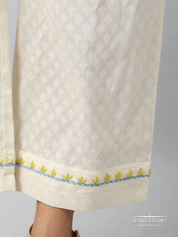 Hand Embroidered Cotton Plazzo DARTSTUDIO4070