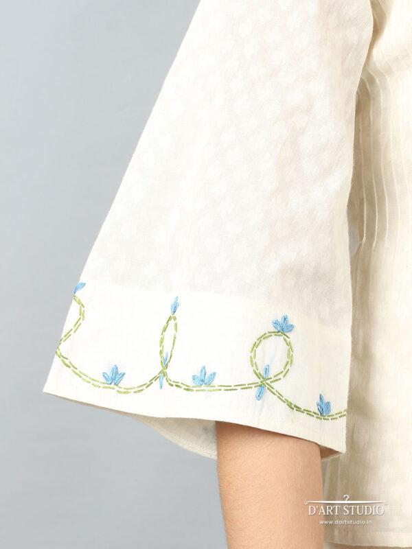 Hand Embroidered Cotton Top DARTSTUDIO1117