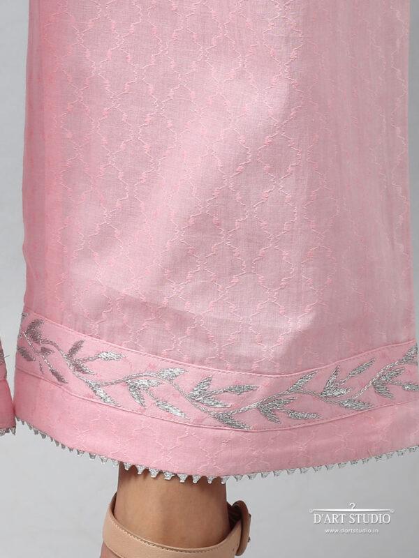 Hand Embroidered Pink Cotton Plazzo DARTSTUDIO4079