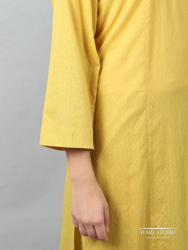 Hand Embroidered Yellow Cotton Set of 2 DARTSTUDIO10067
