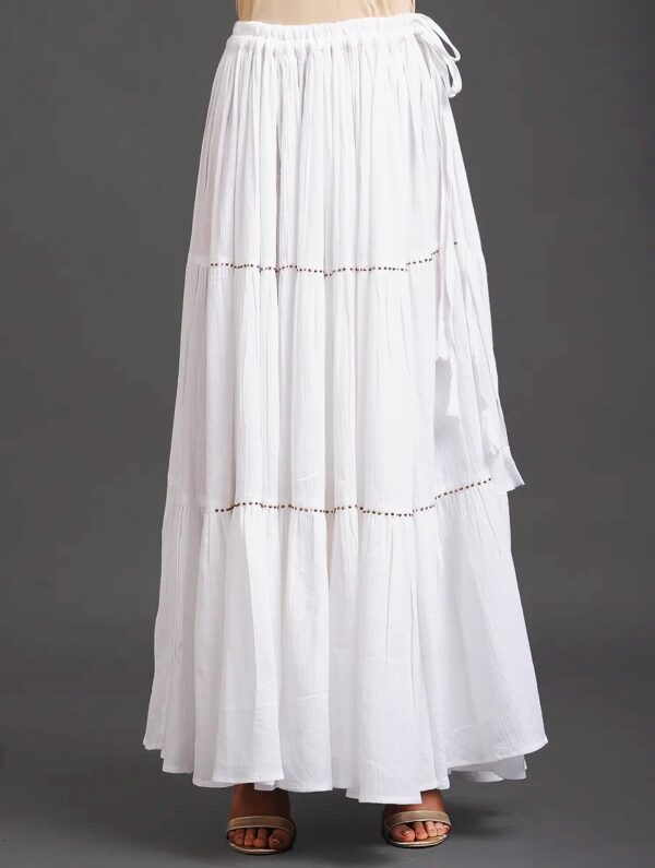 Hand Embroidered Cotton Skirt DARTSTUDIO DS60005