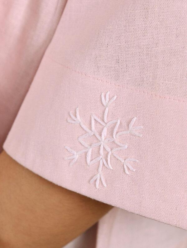 Hand Embroidered Pink Cotton Top DARTSTUDIO DS1125