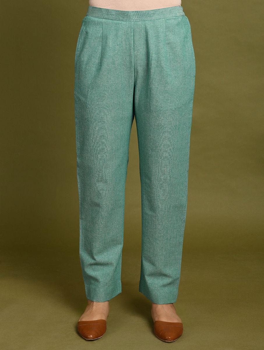 Green Cotton Pants DARTSTUDIO DS4074