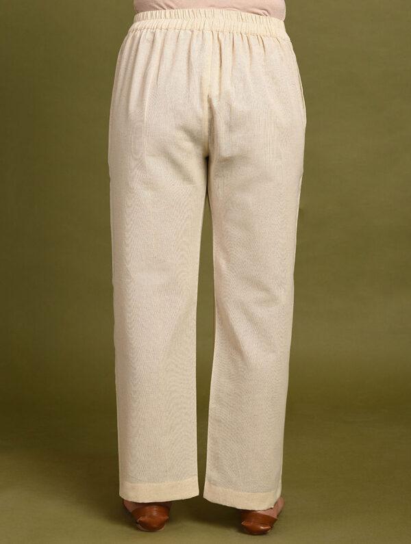 Off White Cotton Pants DARTSTUDIO DS4075